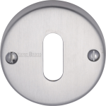 45mm Round Standard Key Open Escutcheon Satin Chrome
