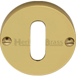 Polished Brass Oval Profile Keyhole Escutcheon