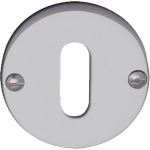 Polished Chrome Standard Keyhole Escutcheon