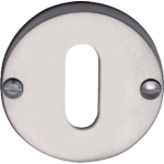 Satin Chrome Oval Profile Keyhole Escutcheon