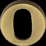45mm Round Oval Profile Lock Escutcheon Antique Brass