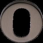 45mm Round Oval Profile Lock Escutcheon Matt Bronze