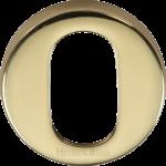 45mm Round Oval Profile Lock Escutcheon Polished Brass