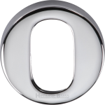 45mm Round Oval Profile Lock Escutcheon Polished Chrome