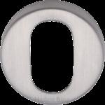 45mm Round Oval Profile Lock Escutcheon Satin Chrome
