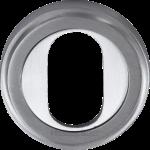 50mm Oval Profile Cylinder Lock Escutcheon Satin Chrome