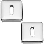 Lugano Open Standard Keyhole Escutcheons Polished Chrome