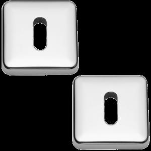Lugano Open Standard Keyhole Escutcheons Polished Chrome
