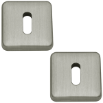 Lugano Open Standard Keyhole Escutcheons Satin Nickel