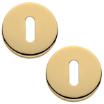 Garda Open Standard Keyhole Escutcheons Polished Brass