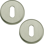 Garda Open Standard Keyhole Escutcheons Satin Nickel