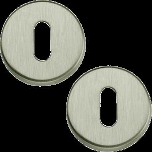 Garda Open Standard Keyhole Escutcheons Satin Nickel