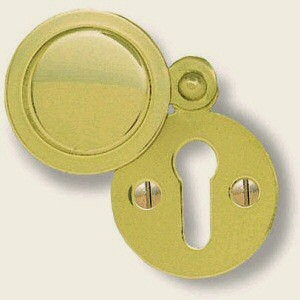 50mm Round Oval Escutcheon SAA Satin Anodised Aluminium Keyhole