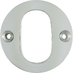 Polished Chrome Oval Profile Cylinder Escutcheon