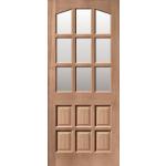 32 x 80 Alicante MT Hardwood Door Clear Glass