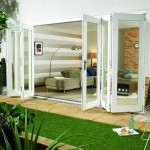 4.2m x 2.1m White Painted Pattern 10 Folding Doors