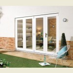 3m x 2.1m White Painted Pattern 10 Folding Doors