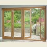 3m x 2.1m Pattern 10 Oak Folding Doors