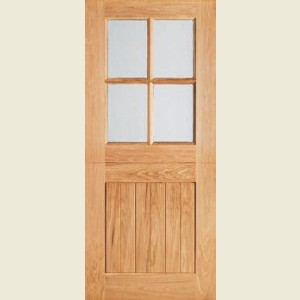 Four Light Adorable Oak Stable Doors