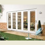 3.6m x 2.1m White Painted Pattern 10 Folding Doors