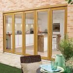 3.6m x 2.1m Pattern 10 Oak Folding Doors