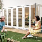 4.8m x 2.1m White Painted Pattern 10 Folding Doors