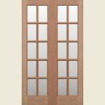 36 x 78 Hemlock GTP French Doors Clear Glazed