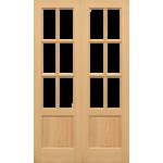 36 x 78 Hemlock GTP 2 Panel French Doors Unglazed