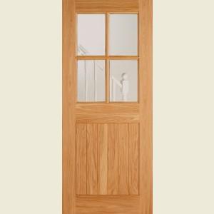Adoorable Oak Cottage Four Light Glazed Doors