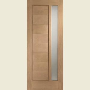 Modena Oak Doors Obscure Glazing