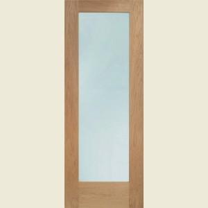 Pattern Ten Oak Doors Clear Glazing