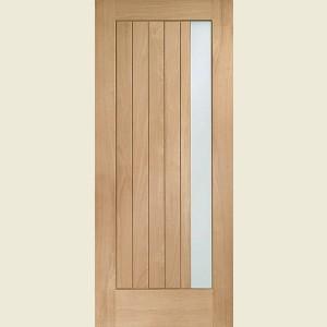 Trieste Oak Doors Obscure Glazing