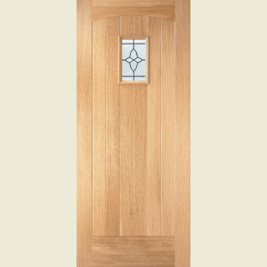 Cottage Oak Leaded Glazed Doors