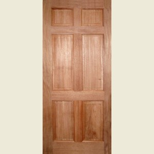 Colonial Six Panel Hardwood Doors
