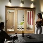 1.8m x 2.1m Vista Oak Pattern 10 Folding Doors