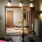 2.4m x 2.1m Vista Oak Pattern 10 Folding Doors