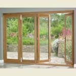 3.16m x 2.1m Vista Oak Pattern 10 Folding Doors