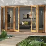 3.92m x 2.1m Vista Oak Pattern 10 Folding Doors