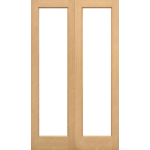 36 x 78 Hemlock Pattern 20 French Doors Unglazed