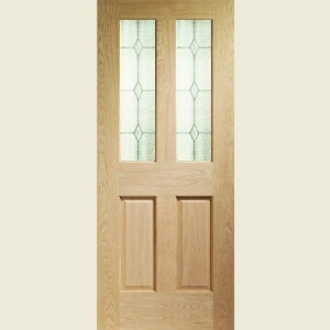 Victorian Oak Glazed Doors