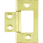 40mm Flush Hinge Polished Brass