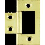 40mm Flush Hinge Polished Brass