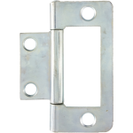 50mm Flush Hinge Bright Zinc
