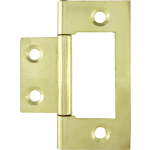 50mm Flush Hinge Polished Brass