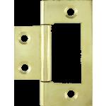 50mm Flush Hinge Polished Brass