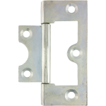 60mm Flush Hinge Bright Zinc