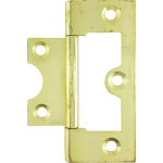 60mm Flush Hinge Polished Brass