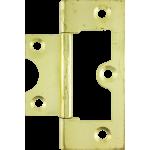 60mm Flush Hinge Polished Brass