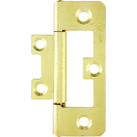 63mm Flush Hinge Polished Brass