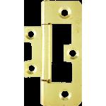 63mm Flush Hinge Polished Brass